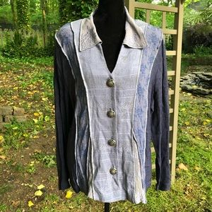 Spencer Alexis Wearable Art Button Down Size 10